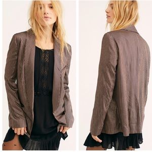 Free People Sunset Brown Blazer S NEW